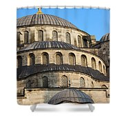 Blue Mosque Domes Shower Curtain