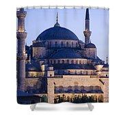 Blue Mosque Exterior Shower Curtain