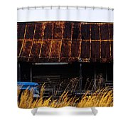 Blue Pickup Truck Shower Curtain