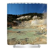 Blue Pools And Funaroles Shower Curtain