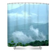Blue Ridge Fog High Shower Curtain