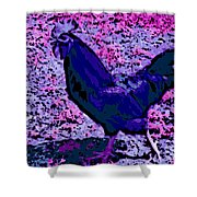 Blue Rooster Shower Curtain