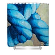 Blue Rope Shower Curtain