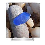 Blue Sea Glass Shower Curtain