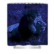 Blue Simba Shower Curtain