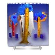 Blue Singers Shower Curtain