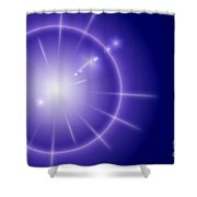 Blue Star Shower Curtain