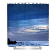 Blue Storm Shower Curtain by Carlos Caetano