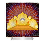 Blue Sun Temple 2012 Shower Curtain