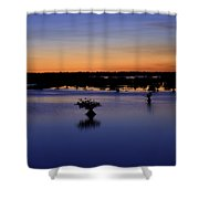 Blue Sunset Mangroves Shower Curtain
