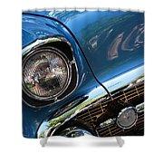 Blue Thunder - Classic Antique Car- Detail Shower Curtain