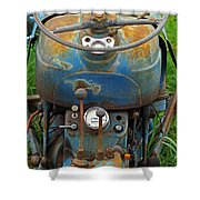 Blue Tractors Driver's Seat Shower Curtain