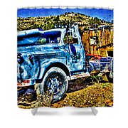 Blue Truck Shower Curtain