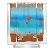 Blue Turner Walkabout Shower Curtain