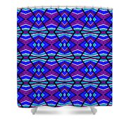 Blue Turquoise And Purple Shower Curtain
