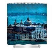 Blue Venice Shower Curtain