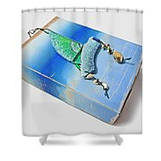 Blue Water Sailing Shower Curtain