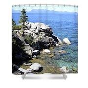 Blue Waters Of Lake Tahoe Shower Curtain