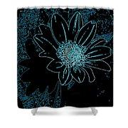 Blue Wildflower   Shower Curtain