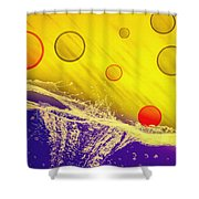 Blue Yellow Red Shower Curtain