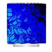 Blue Zinc Shower Curtain