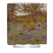 Bluebell Copse Shower Curtain