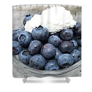 Blueberries And Cottage Cheese Shower Curtain