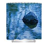 Blued Rock Shower Curtain