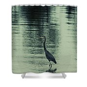 Bluegreen Lake Shower Curtain