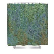 Bluegreen Stone Abstract Shower Curtain