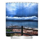 Bluer On The Other Side Shower Curtain