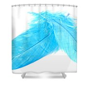 Blues Crossed Shower Curtain