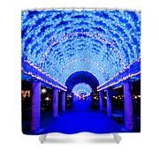 Blues Infinity Shower Curtain