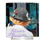 Blues Society Shower Curtain