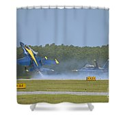 Blues Solo Takeoff Shower Curtain