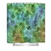 Bluetone Abstract Shower Curtain