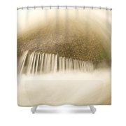 Blurred Motion Photo Of Water Rushing Shower Curtain