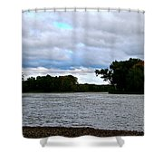 Blustery River  Shower Curtain
