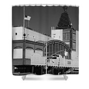 Bmt End Of The Line In Black And White Shower Curtain