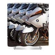Bmw Police Motorcycles Shower Curtain