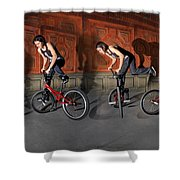 Bmx Flatland Motion Study - Monika Hinz Shower Curtain