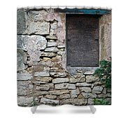 Boarded Window England Shower Curtain