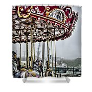 Boardwalk Carousel Shower Curtain