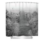 Boardwalk In Quogue Wildlife Preserve Shower Curtain
