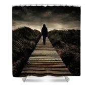 Boardwalk Of Doom Shower Curtain