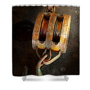 Boat - Block And Tackle II Shower Curtain