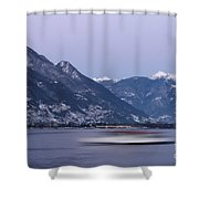 Boat And Alps Shower Curtain