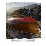 Boat And Sunlight Shower Curtain