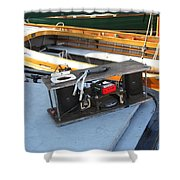 Boat Builders Music Box Shower Curtain
