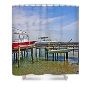 Boat Caddy Shower Curtain